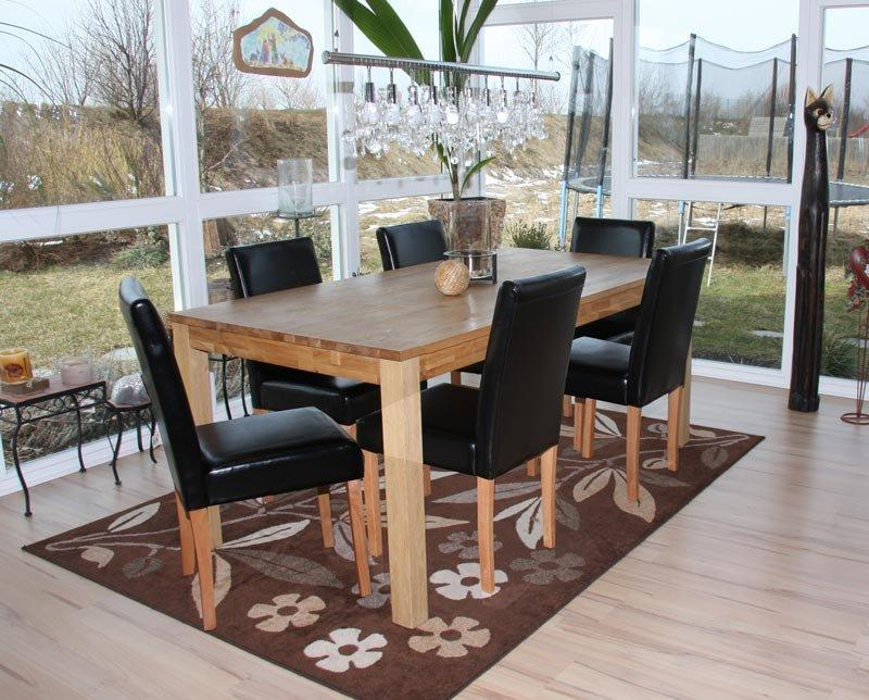 Lotto da 6 sedie per sala da pranzo litau pelle vera for Sedie in pelle per sala da pranzo