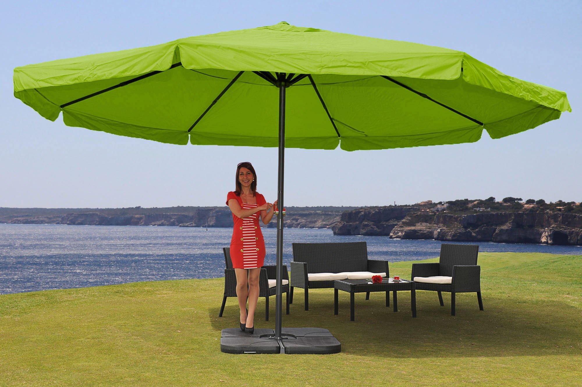 Supporti Per Ombrelloni Da Giardino.Ombrellone Da Giardino Misty Ii Con Supporto Diametro 5m In Verde