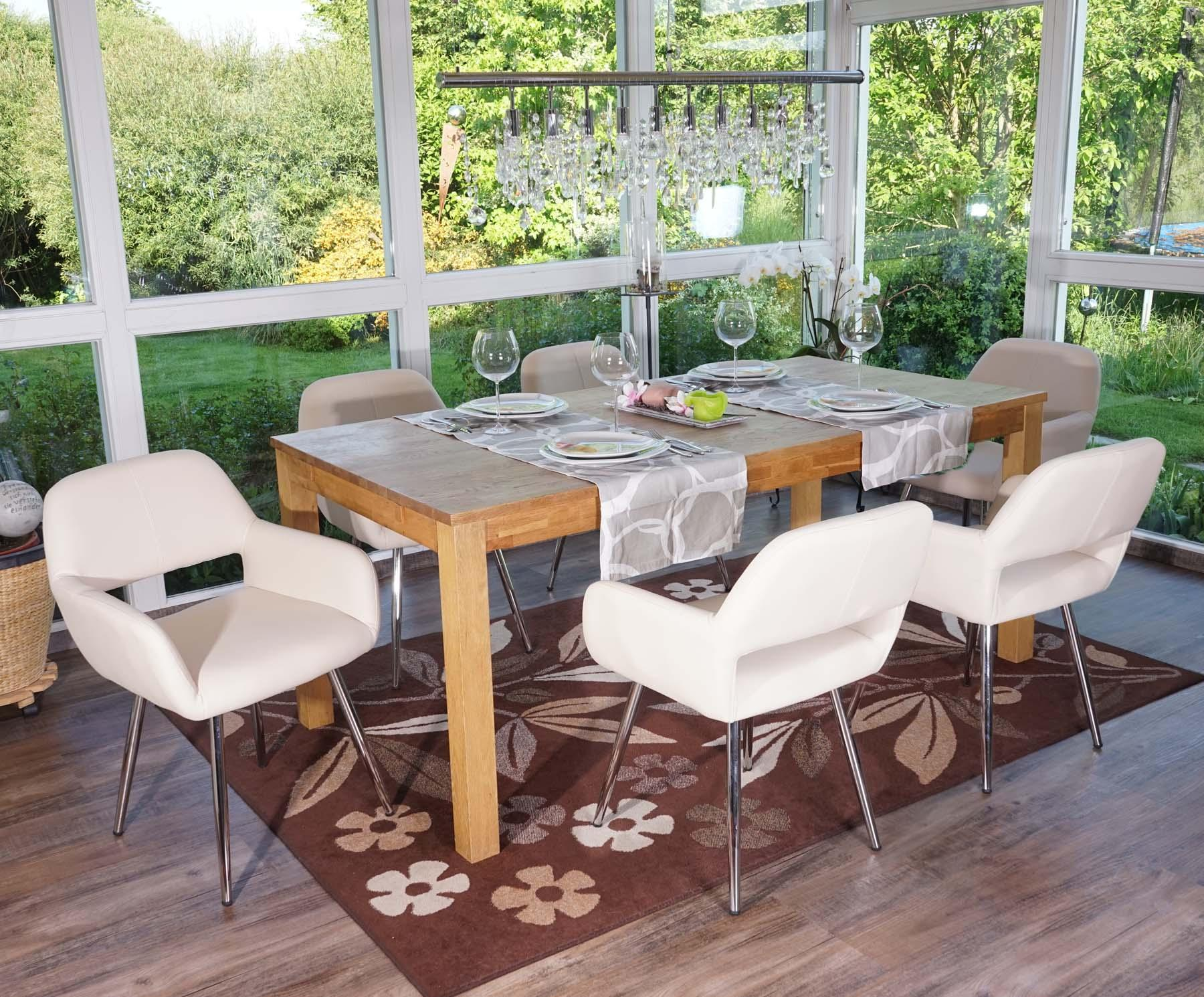 Sedie Sala Da Pranzo Ecopelle : Lotto da sedie da soggiorno calisa in pelle crema lotto da