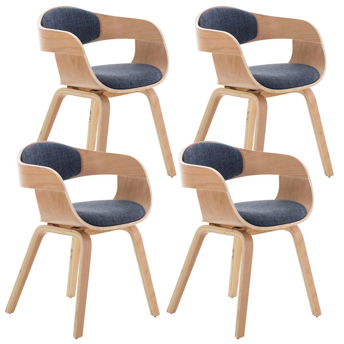 Lotto da 4 sedie per soggiorno bologna in tessuto color for Sedie da soggiorno design