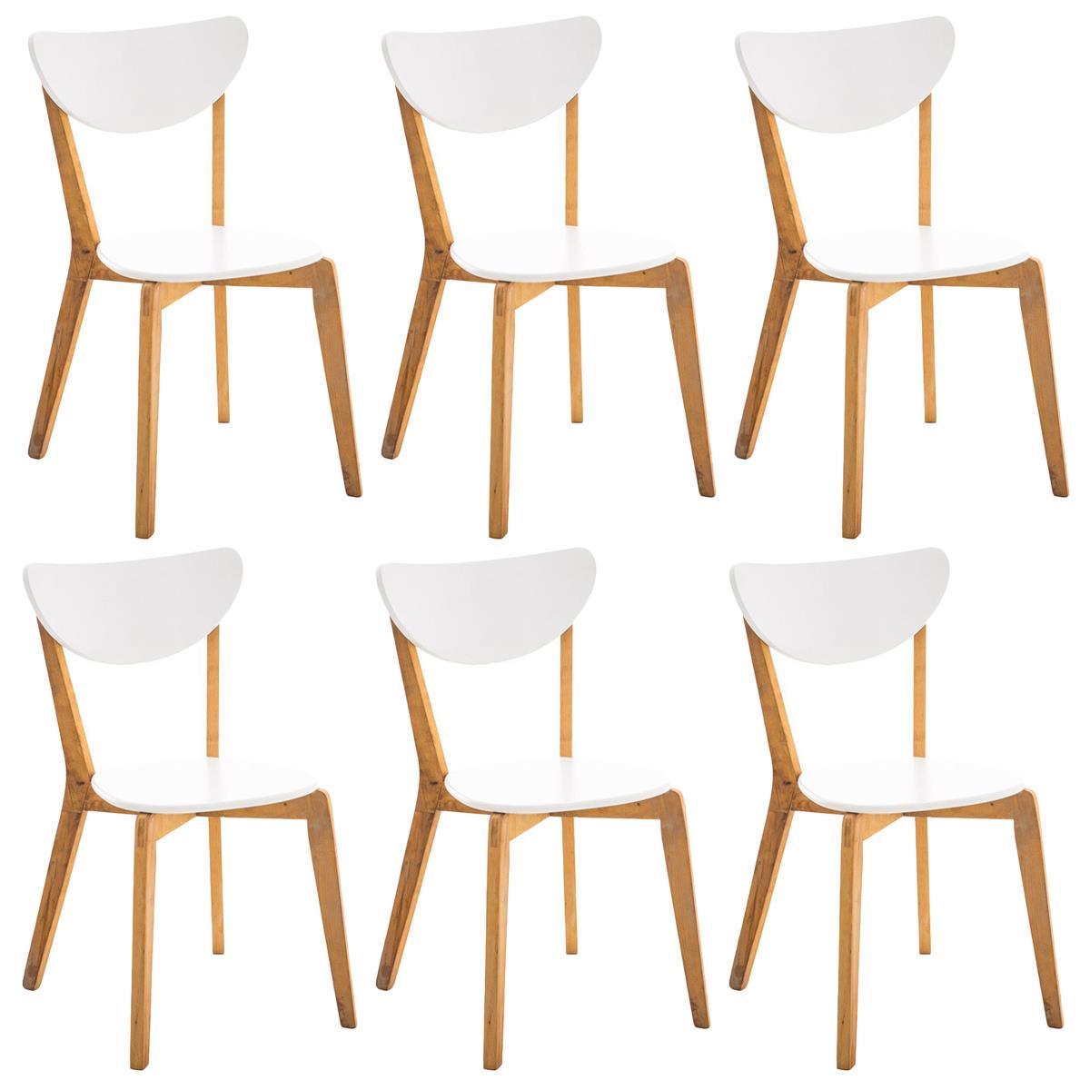 Sedie per Soggiorno BARI, colore Bianco con Struttura e ...