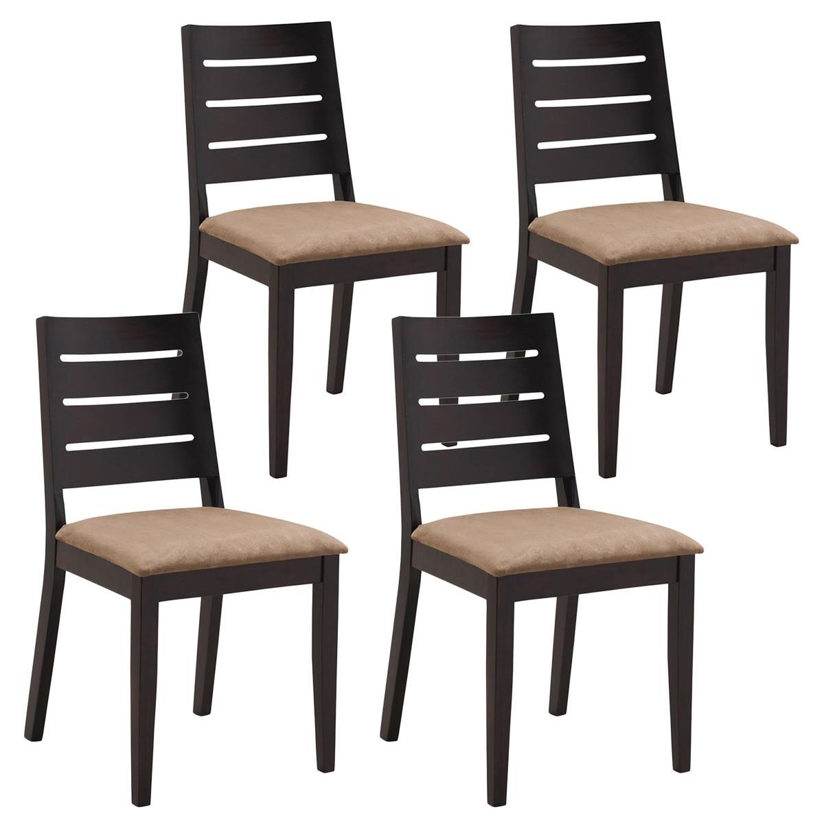 Lotto da 4 sedie per salotto salo in legno e tessuto for Sedie in legno per sala da pranzo