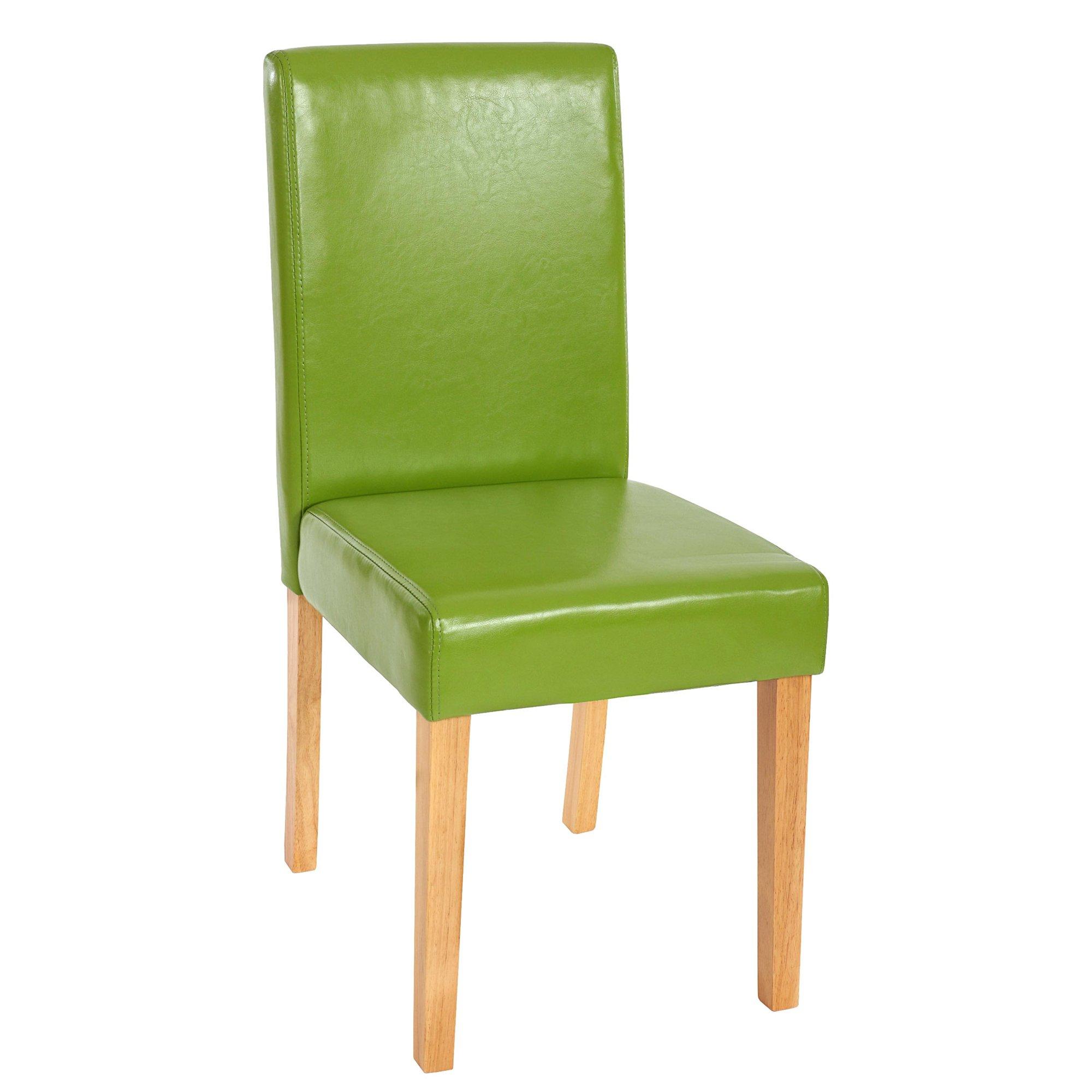 Lotto da 2 sedie per soggiorno LITAU, Pelle Verde Gambe ...