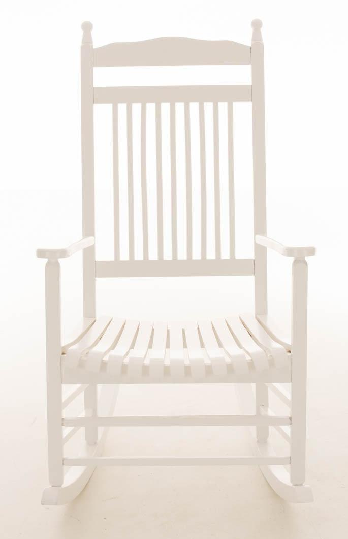 Sedia a dondolo alva in legno color bianco sedia a dondolo in legno alva in colore bianco - Sedia a dondolo design ...