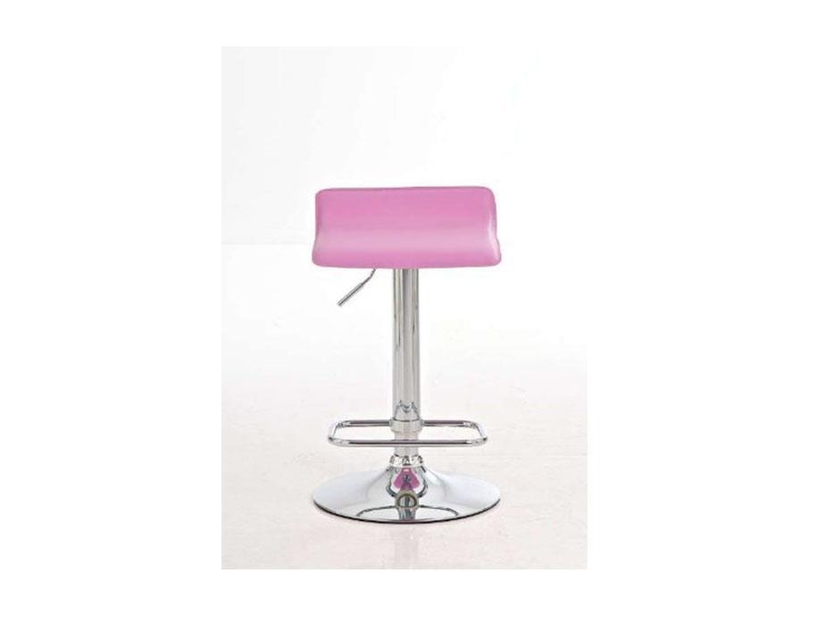 Sgabello da bar itan in pelle rosa sgabello di design itan