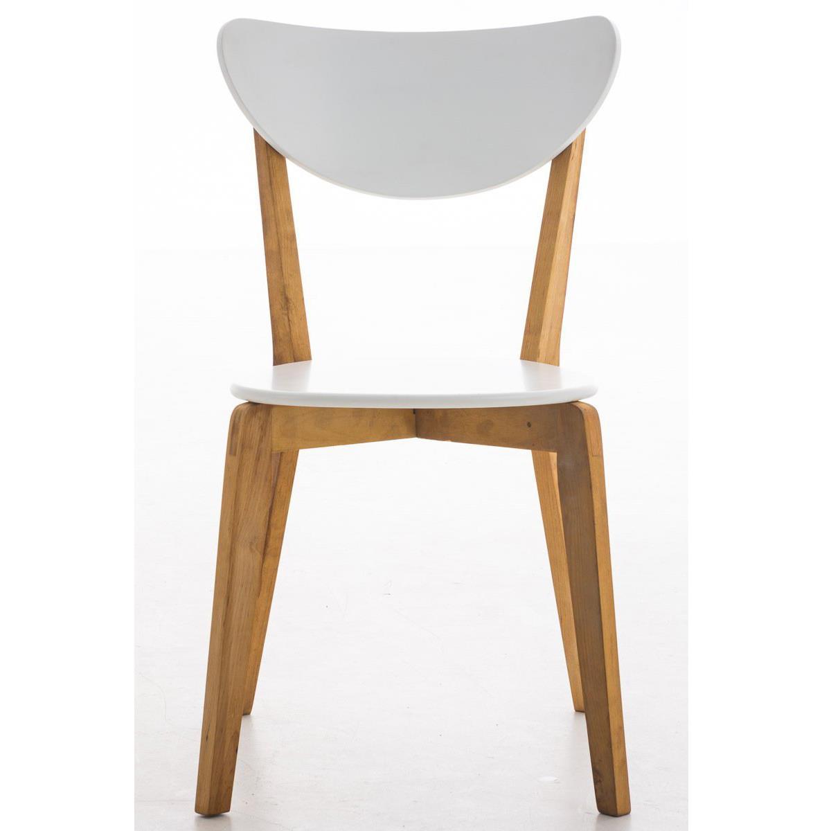 Sedia per Soggiorno BARI, colore Bianco con Struttura e Gambe in ...