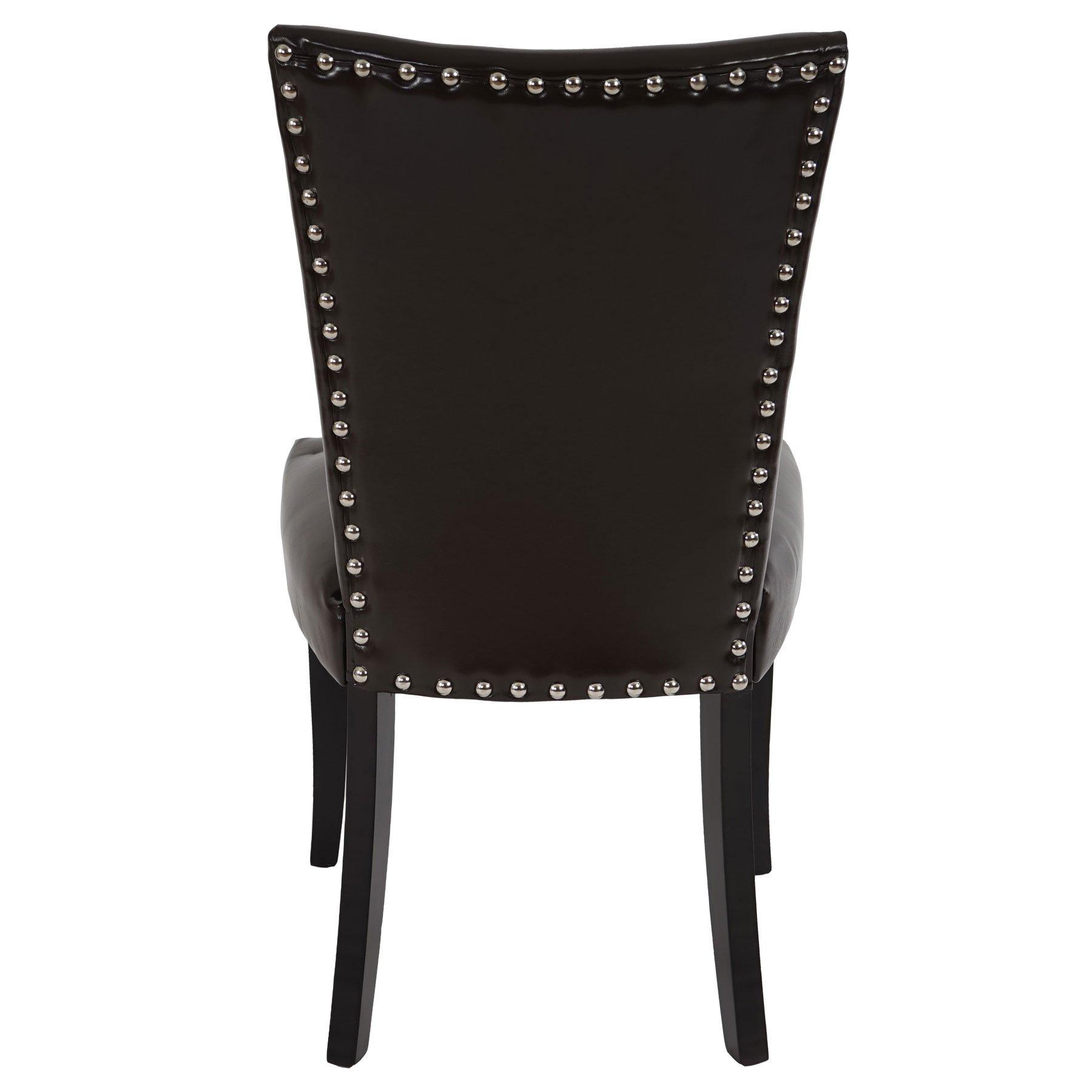 Lotto da 6 sedie da soggiorno augusto in pelle marrone for Sedie in pelle per sala da pranzo