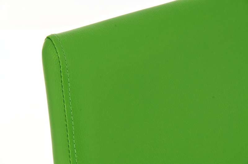 Sgabello da cucina dario in pelle verde sgabello da cucina dario