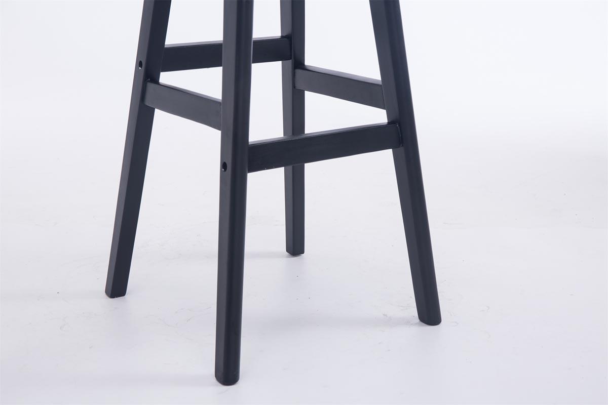 Sgabello da bar o cucina cornelia design elegante base nera