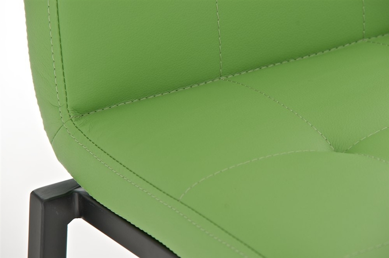 Martina in nero sedile in pelle verde sgabello da cucina o bar