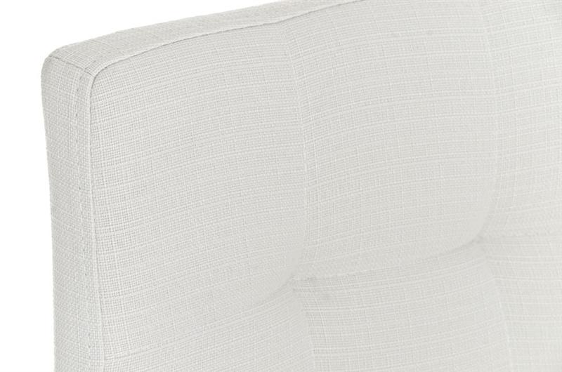 Sgabello da cucina martina pro stoffa sedile in tessuto bianco