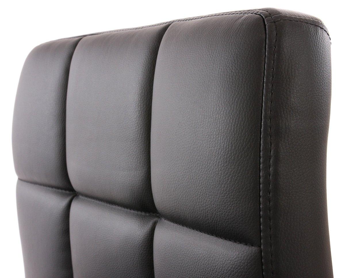 Lotto da 2 sedie per sala da pranzo genova in pelle nero lotto da