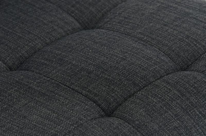 Sgabello da cucina martina pro stoffa sedile in tessuto grigio