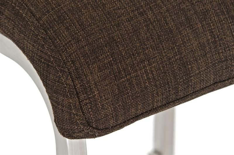 Sgabello da cucina martina pro stoffa sedile in tessuto marrone