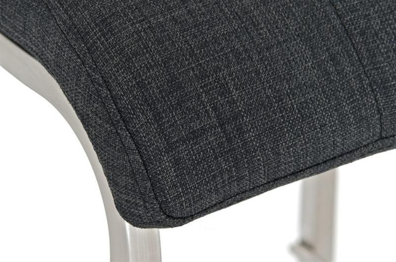 Sgabello da cucina martina pro stoffa sedile in tessuto grigio scuro