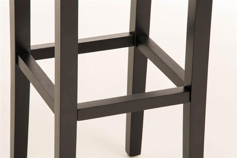 Sgabello in legno lola in pelle nera e struttura nera sgabello
