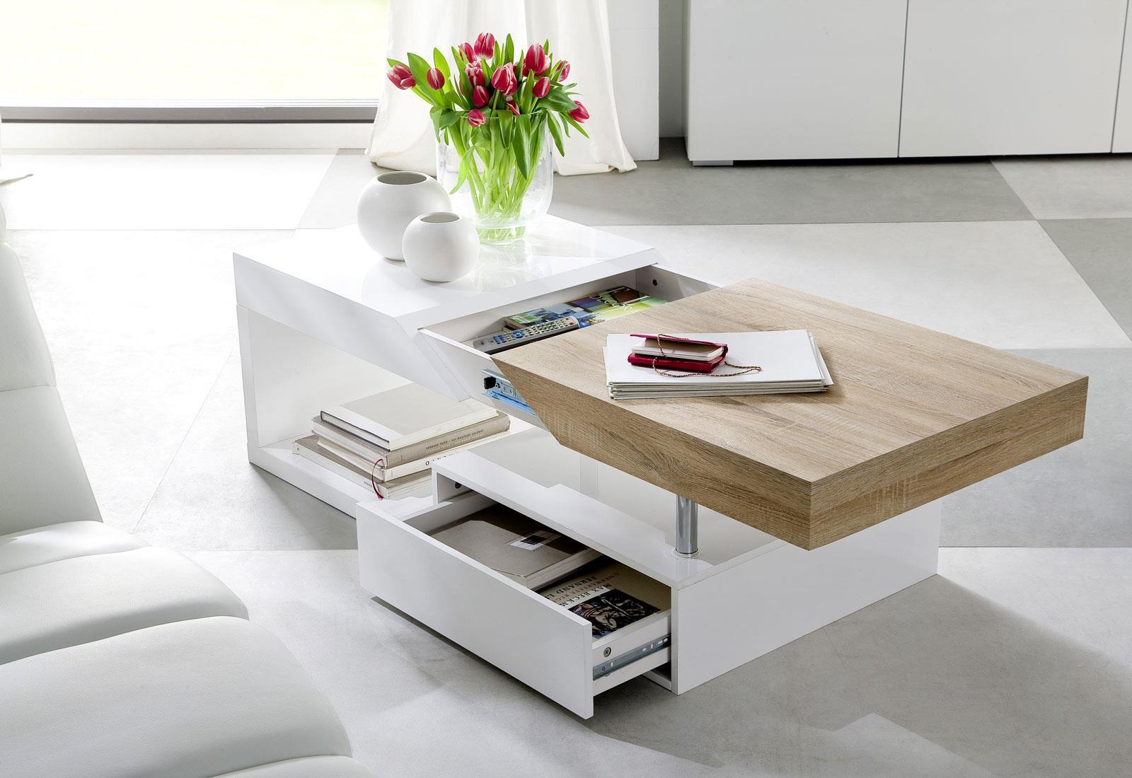 Tavolini Da Salotto Estensibili.Pratico Tavolino Da Salotto Adamo Design Accattivante Estensibile In Legno E Metallo Ripiano Faggio