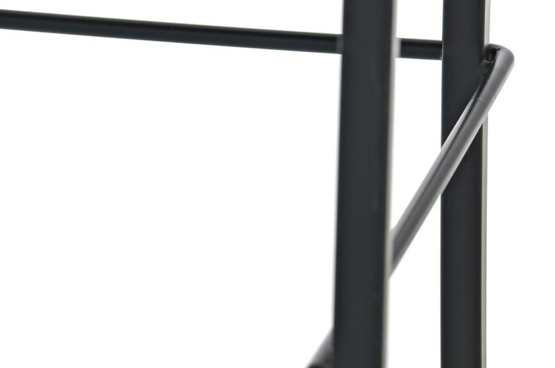Sgabello da cucina martina stoffa in nero con sedile crema