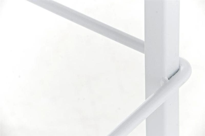 Sgabello da cucina martina stoffa in bianco con sedile grigio scuro