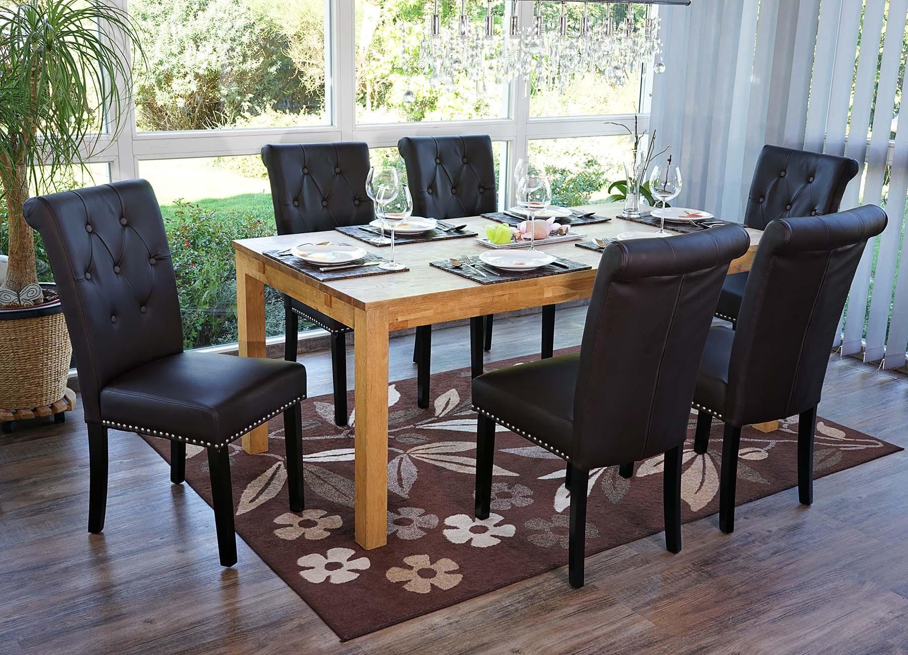 Lotto da 2 sedie per sala da pranzo odessa lo stile for Sedie per sala da pranzo in pelle