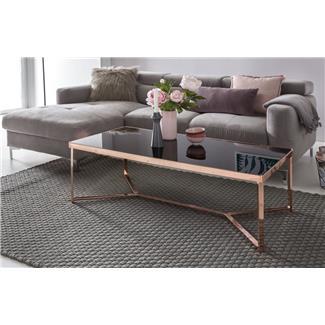 Tavolino Da Salotto Design.Tavolino Da Salotto Nick Struttura In Metallo E Ripiani Vetro Nero