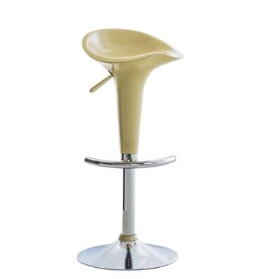 Sgabello da Cucina CANDY, Design Moderno, Girevole e Regolabile in Altezza, in color Crema
