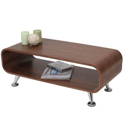 Splendido Tavolino PERUGIA, Design Rétro, 34x90x39 cm, in Color Noce