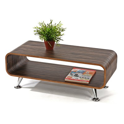 Splendido Tavolino PERUGIA, Design Rétro, 34x90x39 cm, in Marrone