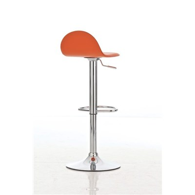 Sgabello da Bar CANDELA, Design Esclusivo, Regolabile in Altezza, in Pelle Arancione