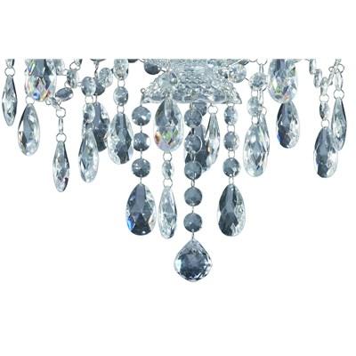 Splendido Lampadario BONEY, 5 Punti Luce, in Cristallo Acrilico Trasparente