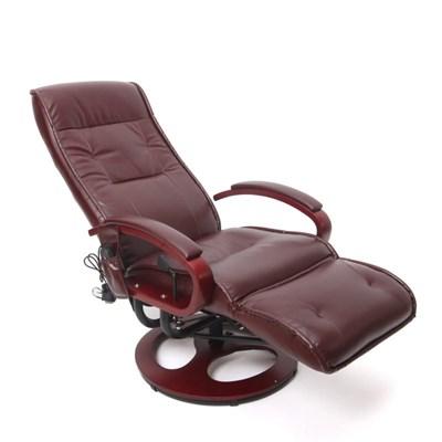Elegante Poltrona Elettrica ARLES II, con Funzione Massaggiante, in Pelle, color Marrone