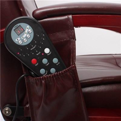 Elegante Poltrona Elettrica ARLES II, con Funzione Massaggiante, in Pelle, color Nero