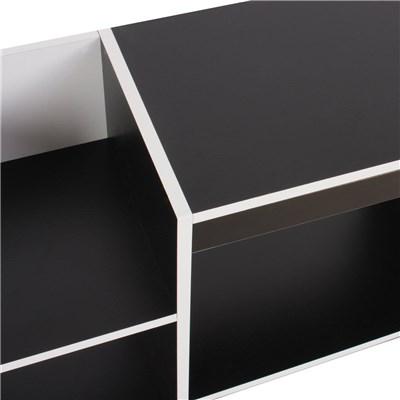 Mobile Porta TV in Legno modello BRESCIA, Di Tendenza, 109x59x30 cm, in Color Bianco