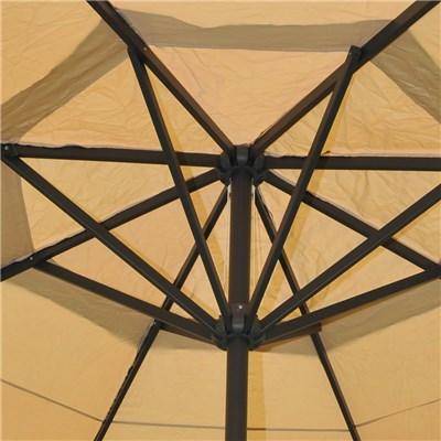 Ombrellone da Giardino MISTY II, Diametro 5m, con Base a Croce, in Crema