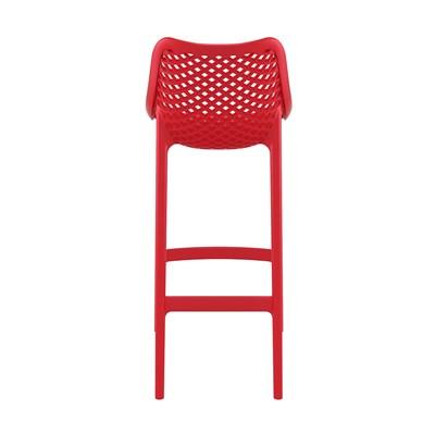 Sgabello di Design DANIELA, Adatto ad Uso Esterno, In Polipropilene color Rosso