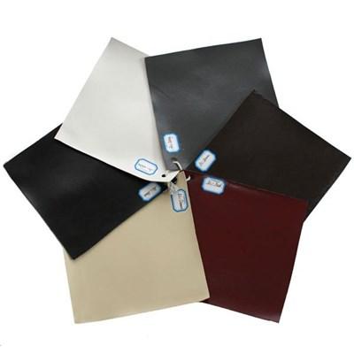Lotto da 2 Sgabelli in legno N25, Vera Pelle color Rosso e Gambe Scure