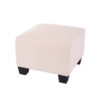 Pouf Modulare LYON, Design Minimale, in Pelle color Crema